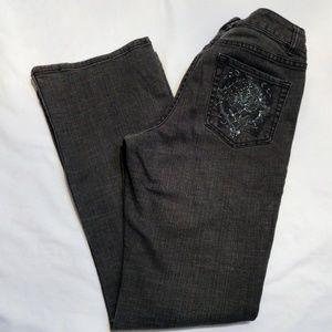 Chico's Platinum Light Black Boot Cut Jeans